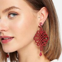 designer jewelry crystal chinese knot earrings jubilant red chram earrings for women hot fashion free of shipping