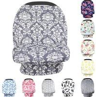 Bébé Canopy Siège d'auto Couverture 26styles INS Floral Coton Élastique infirmière bébé Couverture alimentation Poussette Couverture bébé Couverture écharpe GGA3496