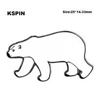 Polar Bear Lapel Pin på ryggsäck Pins för kläder XY0104