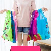 Hot Creative Environmental Storage Bag Handväska Jordgubbar Vikbara Väskor Återanvändbar Fällbar Livsmedelsaffär Nylon Eco Tote Bag Gratis frakt