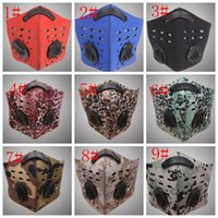 Activated carbon mask double breather valve Face Mask Men Sp...