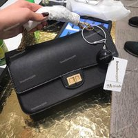 Vintage 2019 Chain Charm Flap Bag Import Calfskin Shoulder C...
