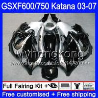 GSX600F Per SUZUKI nero argentato caldo GSXF 600 750 GSXF600 2003 2004 2005 2006 2007 293HM.12 GSXF-750 KATANA GSXF750 03 04 05 06 07 Carene