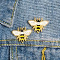 옷깃 핀 두 개의 노란 꿀벌 브로치 꿀벌을 저장 만화 곤충 쥬얼리 핀 가방 의류 선물 친구에 매달려