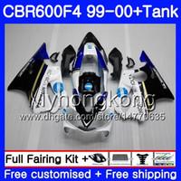 Bodys + Tank لـ HONDA CBR 600 F4 FS CBR 600F4 CBR600F4 99 00 287HM.39 CBR600FS CBR600 F 4 CBR600 F4 KONICA blue hot 1999 2000 Fairing kit
