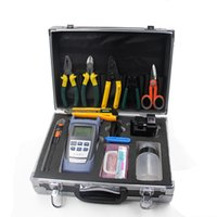 18pcs / set separador cable FTTH y la caja de herramienta de corte, fibra de kit de herramientas óptica con localizador visual de fallos y cleave fibra