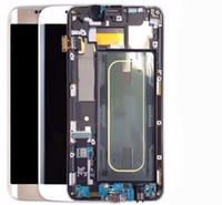Samsung Galaxy S6 Kenar Plus G928 için Dokunmatik Paneller Çerçeve ile Acoled Ekran LCD Ekran
