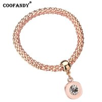 New Women Fashion Solid Bangle Bracelet Silver, Light pink, ...
