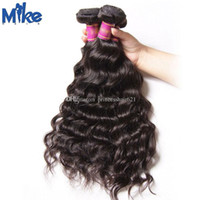 Mikehair رخيصة البرازيلي ريمي الشعر ينسج 4 حزم موجة الطبيعية بيرو الهندي الماليزية الشعر البشري بالجملة 8-30inch 100g / pc