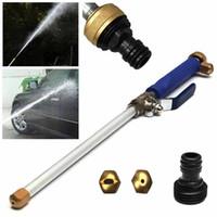 Garten Wasserpistole 1 Satz Aluminiumlegierung Hochdruckkraftreiniger Spray-Düsenlanzen Wasserschlauch Wand Befestigung Großhandel 50M29