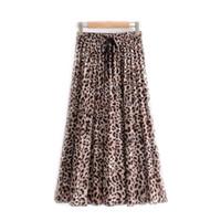 Abiti leopardo da donna moda femmina leopardo stampato gonna spiaggia vacanza nuovo breve breve casual signore abiti in chiffon asiatico taglia S-L