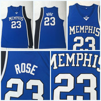 purchase cheap 8c410 897b4 New Arrival. NCAA  23 DERRICK ROSE Basketball Jersey Sale Blue University Memphis  Tigers 100% Stitched College Basketball Jerseys ...