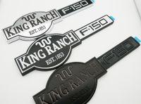 Schwarz silbriger Weiß King Ranch F150 Auto-Seiten-Aufkleber Tür Tailgate-Emblem-Abzeichen Brief 3D Typschild Ersatz für F150