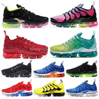 2019 Plus Running Shoes Bumblebee Be Ture Hyper Blue Violet Pink Rise Tropical Sunset Game Royal Hombres Mujeres Zapatillas de deporte 36-45