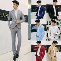 Herrenanzüge Blazer Mens Casual Slim Fit 1 Button Anzug Blazer Business Coat Jacke mit Tasche