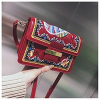 Artwork Stripes Flap Bags Shoulder Single Strap bags Fashion...