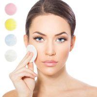 Bamboo Cotton Makeup Remover Pad Soft Care reutilizável pele do rosto limpa lavável limpeza profunda Cosméticos Ferramenta Rodada Makeup Remover Pad HHA-346