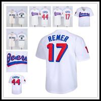 Männer Günstige Beste der Baseketball Biere Film Baseball 17 Doug Remer 44 Joe Coop Cooper Genähte Baseball Shirts Hohe Qualität Freies Verschiffen