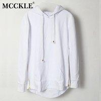 Solide Mcckle style britannique Hommes T-shirt à capuche Hipster Hip Hop Streetwear or à glissière latérale Hommes Arc Extended Cut T-shirts manches longues Tendance