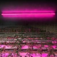 LED crece la luz de espectro completo para plantas de interior cultivo hidropónico Veg, de floración más luz con el tubo de la forma menos energía de calor T8 Triple Fila D