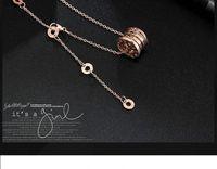 Chains Rose Gold colar de ouro colar mulheres Designer de jóias de cerâmica Pingente de Aço Senhora do Stainless amor colares de casamento grátis