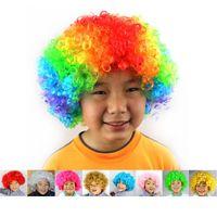Partido do carnaval perucas para os fãs traje do palhaço vestido de Natal Masquerade Halloween Cosplay Futebol Crianças Adulto chapéus do partido