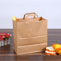sacchetto di pane della carta kraft che impacca la borsa di tote marrone fustellato il taglio di baguette che bagna il sacchetto di carta portatile di carta LOGO su ordinazione