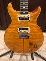 まれなサンタナLLサンタナ黄色いキルトギターリードスミス24フレットエレキギター
