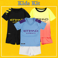 Kids Kit Manchester Soccer Jersey 2020 Home Away Third man K...