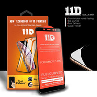11D Full Curved Tempered Glass Para iphone XS MAX XR 6 7/8 plus Para Galaxy M10 M20 A30 A50 con embalaje al por menor