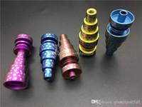 bunt Domeless Titanium GR2 Nägel 10mm 14mm 18mm 6in1 Universal Joint Männlich Weiblich Domeless GR2 Titanium Nägel für Glas Bongs Wasserrohr