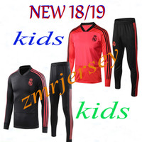 2018 19 Real Madrid kids Training Suits Long Sleeve Pants Ki...