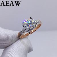 1Carat Wedding 100% Moissanite diamante genuino colore T200701 18K 750 oro giallo oro bianco D