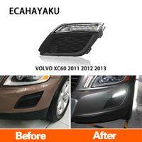 ECAHAYAKU LED 자동차 DRL 주간 주행 2011 2012 2013 VOLVO XC60에 대한 스타일 릴레이 디밍과 방수 12V 안개 램프를 점등