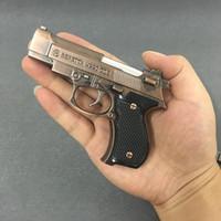 Cachorro de pistola de metal genuino 67m9 encendedores inflable a prueba de viento del modelo de simulación de la antorcha para el apurso de regalo del hombre de cigarro se ve exactamente como una pistola real