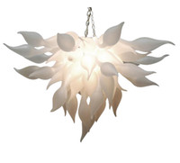 이탈리아어 펜던트 램프 화이트 무라노 샹들리에 빛 중국 공급 업체 손 날아 유리 샹들리에 예술 장식 Led 전구
