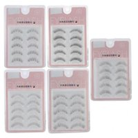 Cílios 5pair Professional Natural Thick As pestanas falsas macia Extensão Maquiagem Falso Lashes baratos