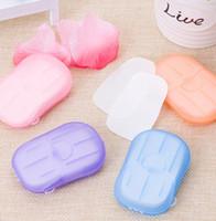 처분 할 수있는 박스형 비누 종이 휴대용 여행 손 세척 향기로운 시트 여행 비누 종이 향기 나는 목욕 세척 손 종이 비누 KKA7787