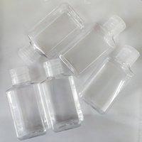 透明な手の消毒剤のペットボトル空のアルコール消毒容器小型液体化粧パッケージサブボトル60ml 0 59yj E19