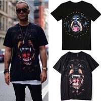 Hot Sale Printed Rottweiler Dog Head Cotton Jersey Vintage E...