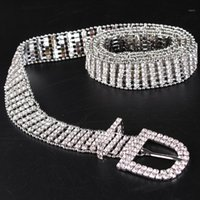 Luxury Rhinestone Jean Belt Women European Ladies Rhinestone...