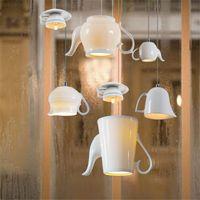 Nordic керамические светодиодные подвесные светильники современная чашка чая чайник подвесной светильник столовая кухня Home Decor светильник светильники