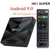 HK1 Super 4GB 32GB RK3318 TV Box Android 9.0 Quad Core Smart Mini PC Dual Band Wifi Bluetooth 2G / 16G 4G / 32G 4K Streaming Media Player