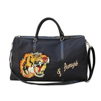 Designer- bag Embroidered tiger travel tote purses and handb...