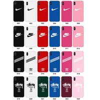 Berühmte marke für iphone xs max xr x trend handy case multicolor mischen matt pc hard phone cases für iphone 5 5 s se 6 6 s 7 8 plus