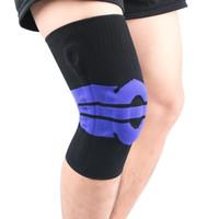 2PC ضغط رياضة للياقة البدنية الركبة وسادة كم محبوك تنفس دعم الساق حامي سيليكون الربيع الدراجات Legwarmers