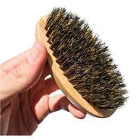 جديد وصول رجل خنزير الشعر الشعر الصلب جولة الخشب مقبض اللحية الشارب فرشاة مجموعة maquiagem شحن مجاني