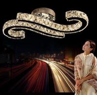 Soggiorno Camera da letto Luci Plafoniere di cristallo di lusso Plafoniere a LED a tre colori per KIV BAR Cafe illuminazione commerciale LLFA