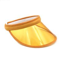 Frauen PVC Kunststoff Visier Kappen Sun Hüte Casquette Gorras Mädchen Casual Topless Wasserdichte UV Schutz Radlinge Hüte