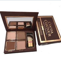 Marca Maquillaje Hot Cacao Contorno Kit 4 Colores Bronzers Highlighters Powder Palette Desnudo Color Shimmer Stick Cosmetics Chocolate Sombra de ojos ingenio
